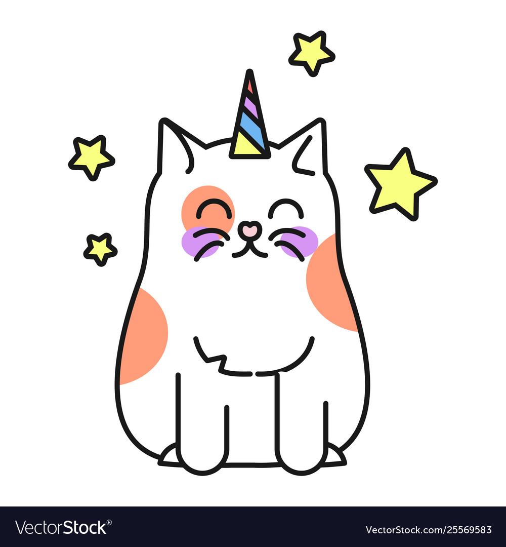 Cat unicorn cute funny kitten fantasy animal