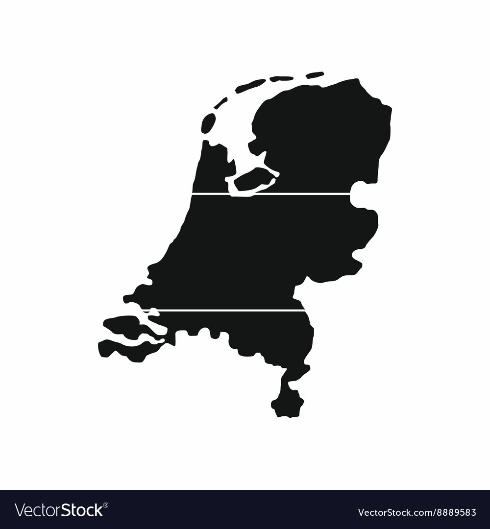 Map of Netherlands icon simple style Royalty Free Vector