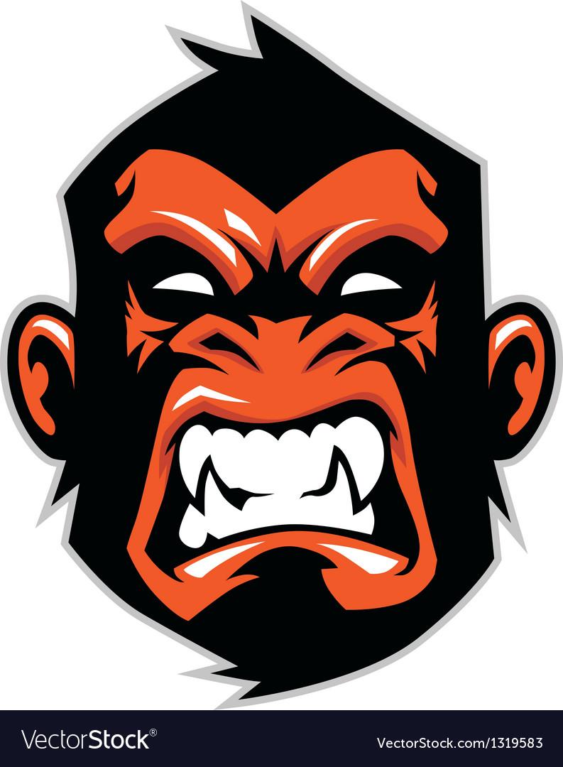 monkey head mascot royalty free vector image vectorstock