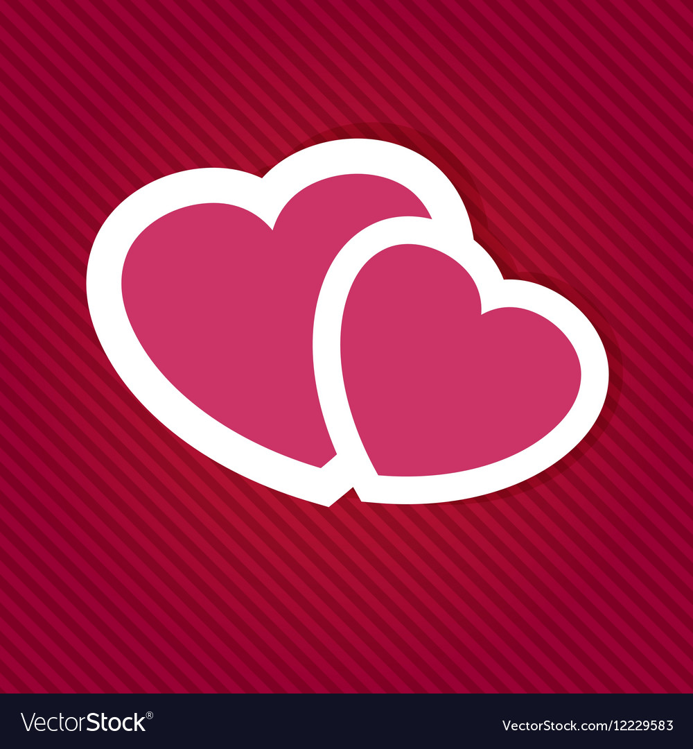 Sign two hearts vector image
