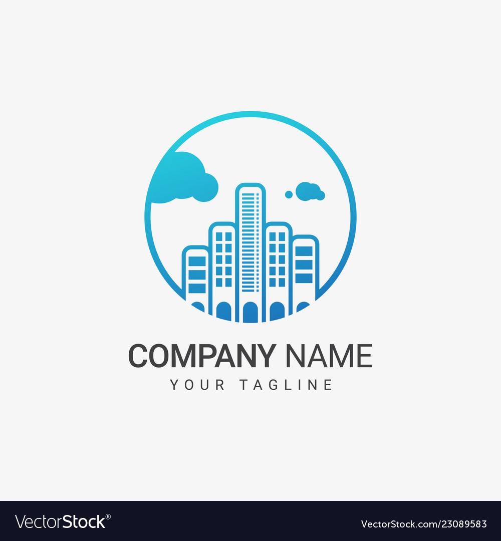 Skyline logo template