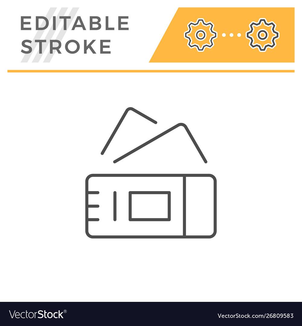 Tickets editable stroke line icon