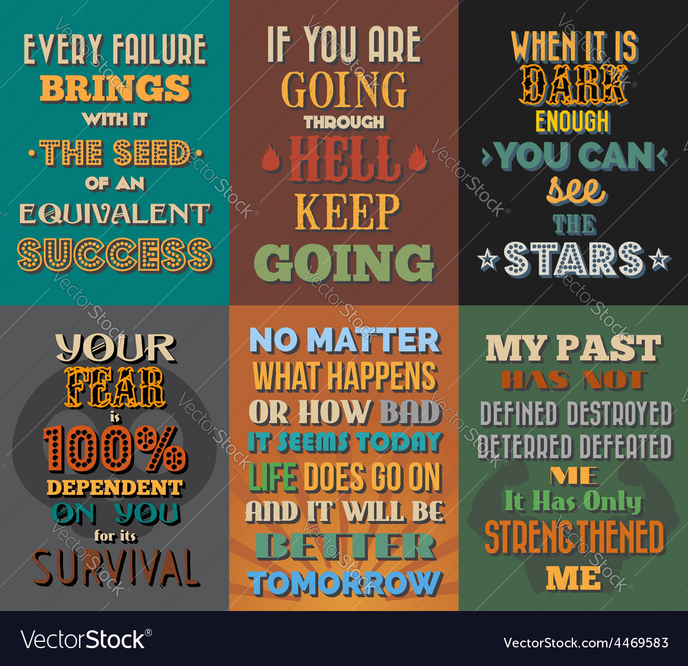 Unusual motivational and inspirational quotes Vector Image