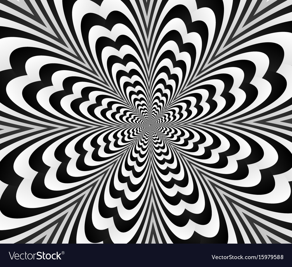 Abstract spiral black andwhitewith optical