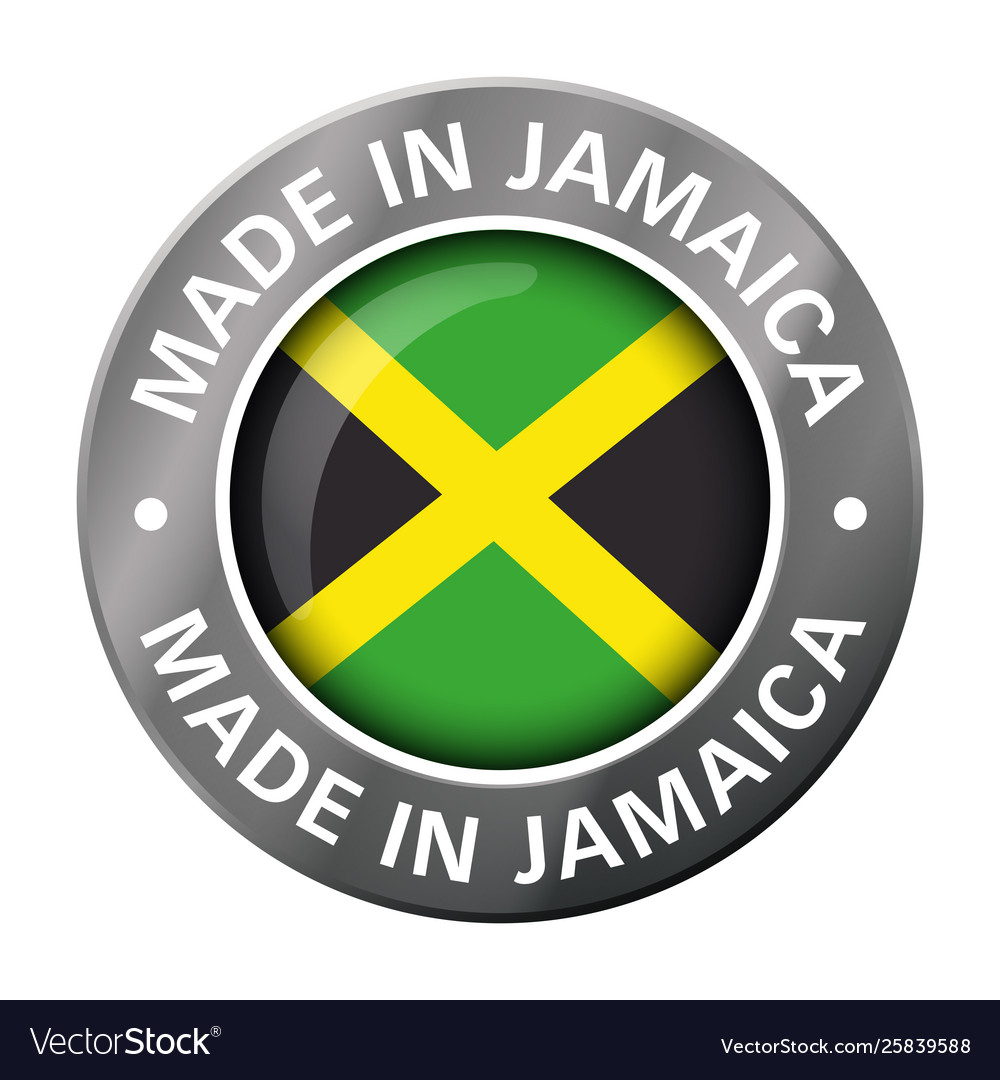 Made in jamaica flag metal icon