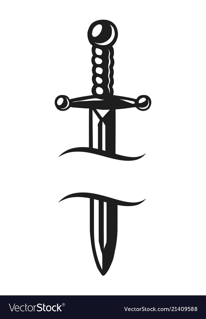 vintage sharp dagger template royalty free vector image