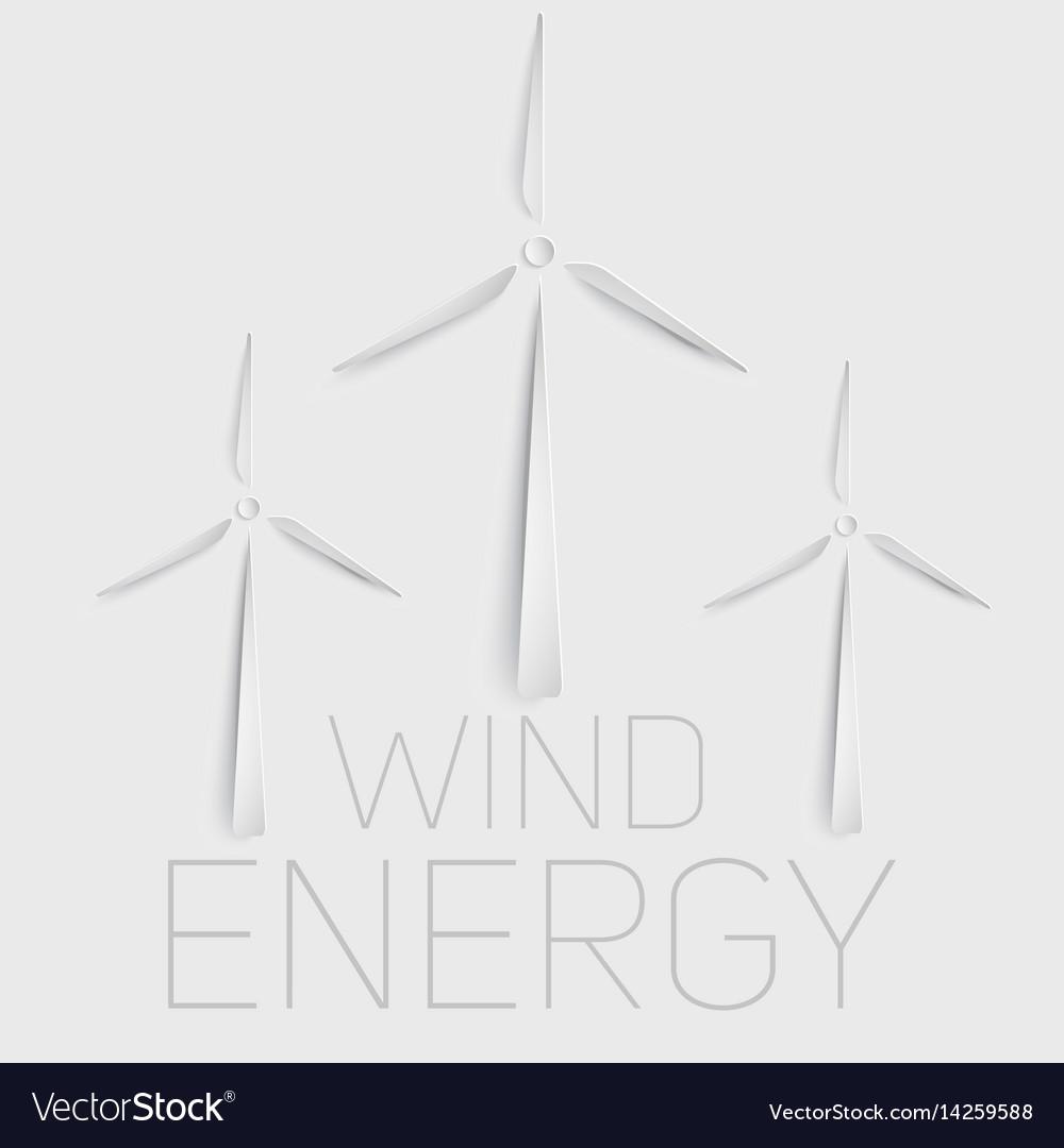 Wind Turbine Symbol Green Energy Royalty Free Vector Image