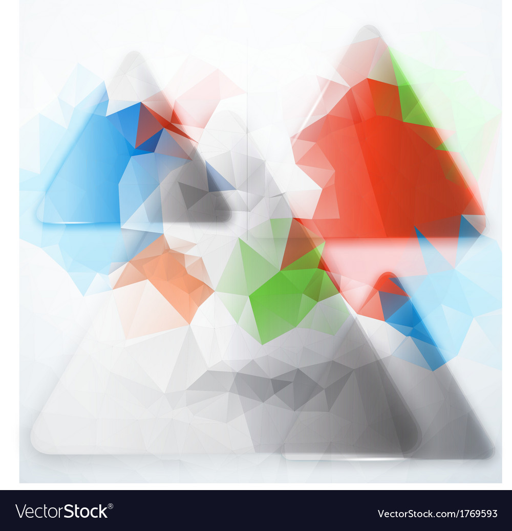 Abstract background Polygon blue and card