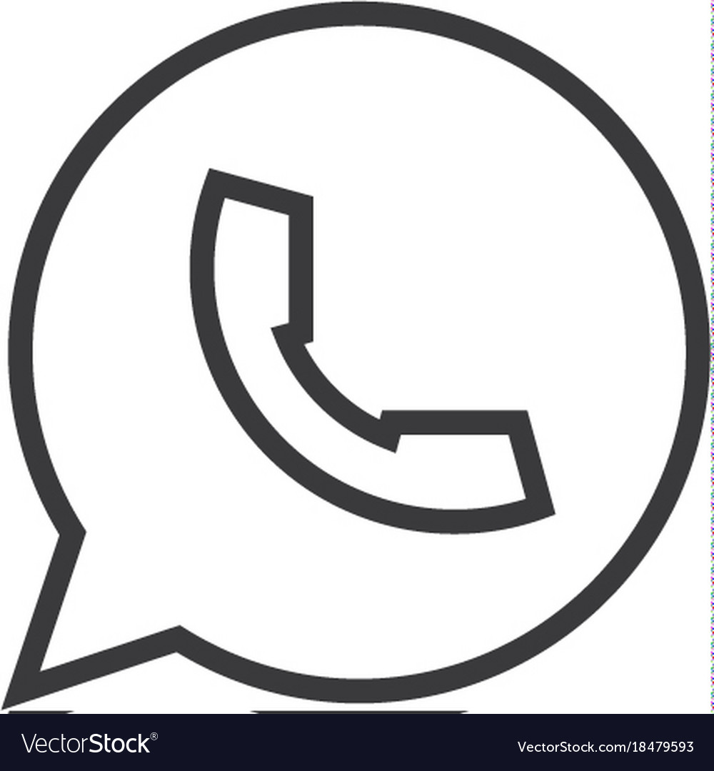 Chat message icon line style
