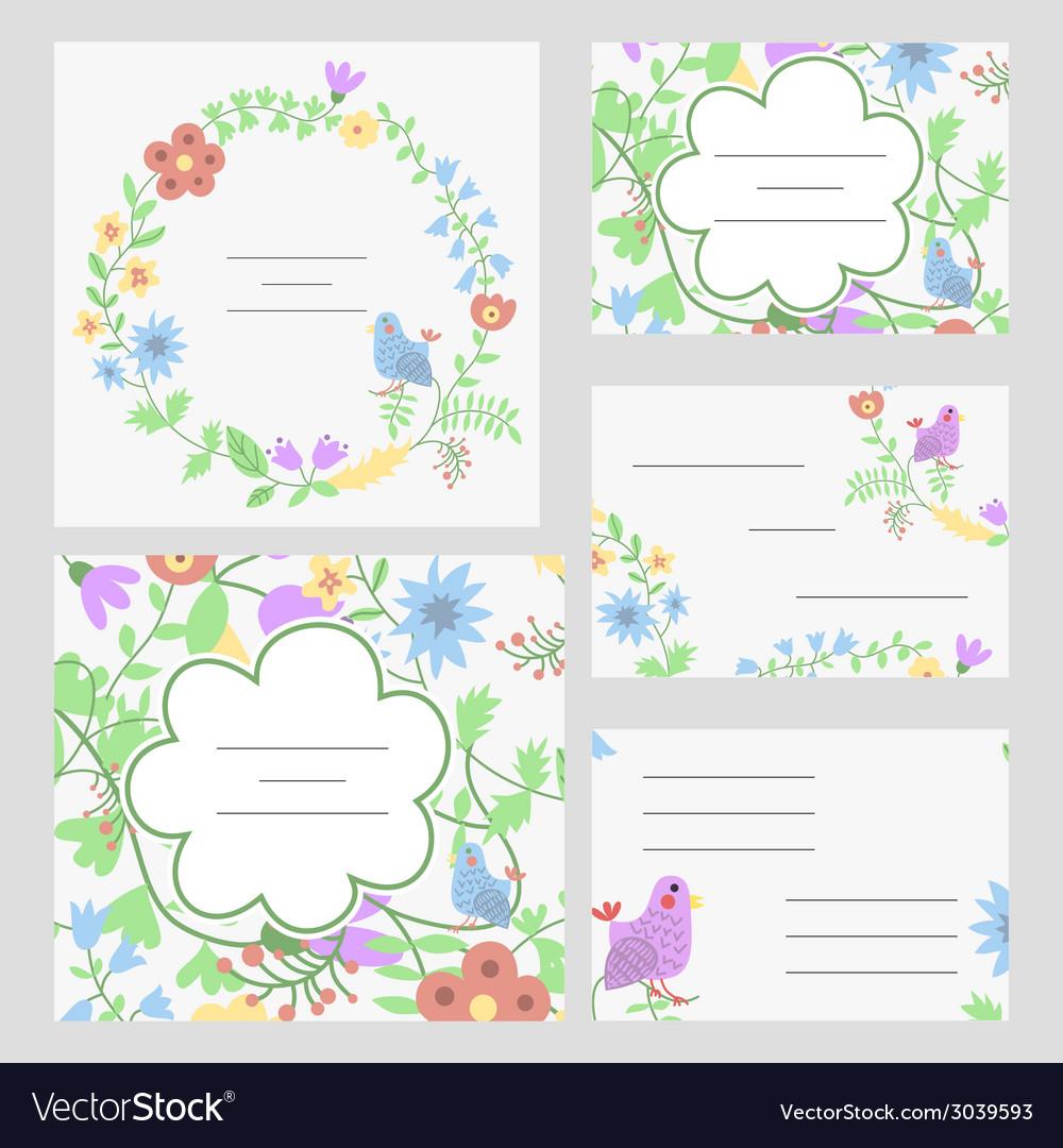Cute invitation or wedding card