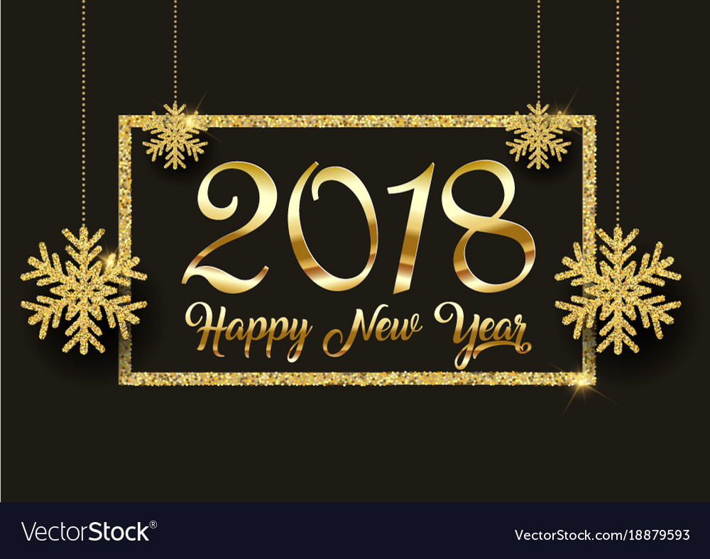 glitter happy new year background vector image