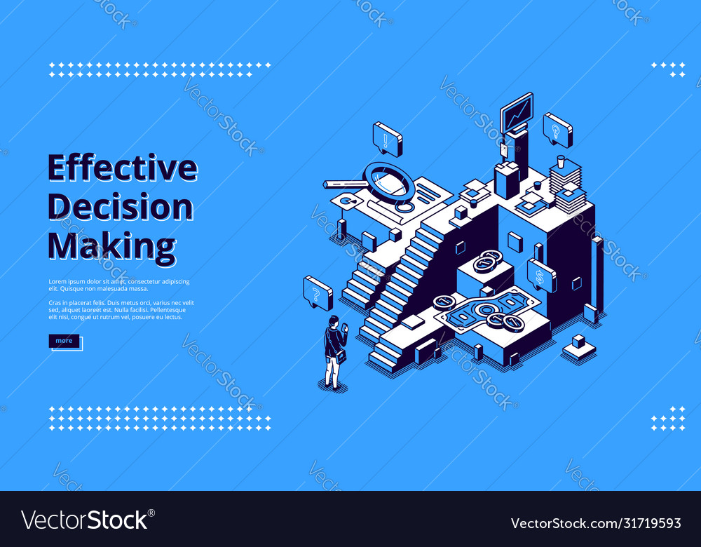 Landing page effective decision making
