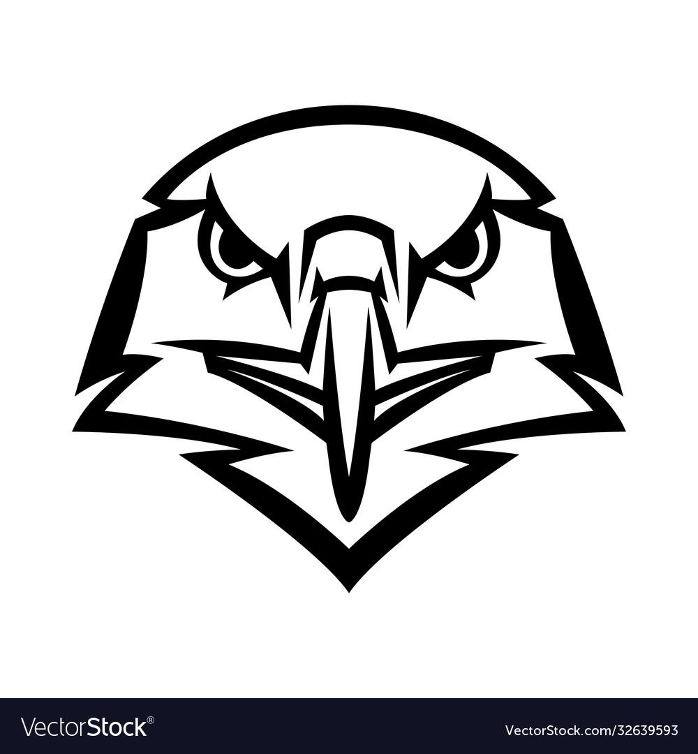 Mascot stylized eagle head