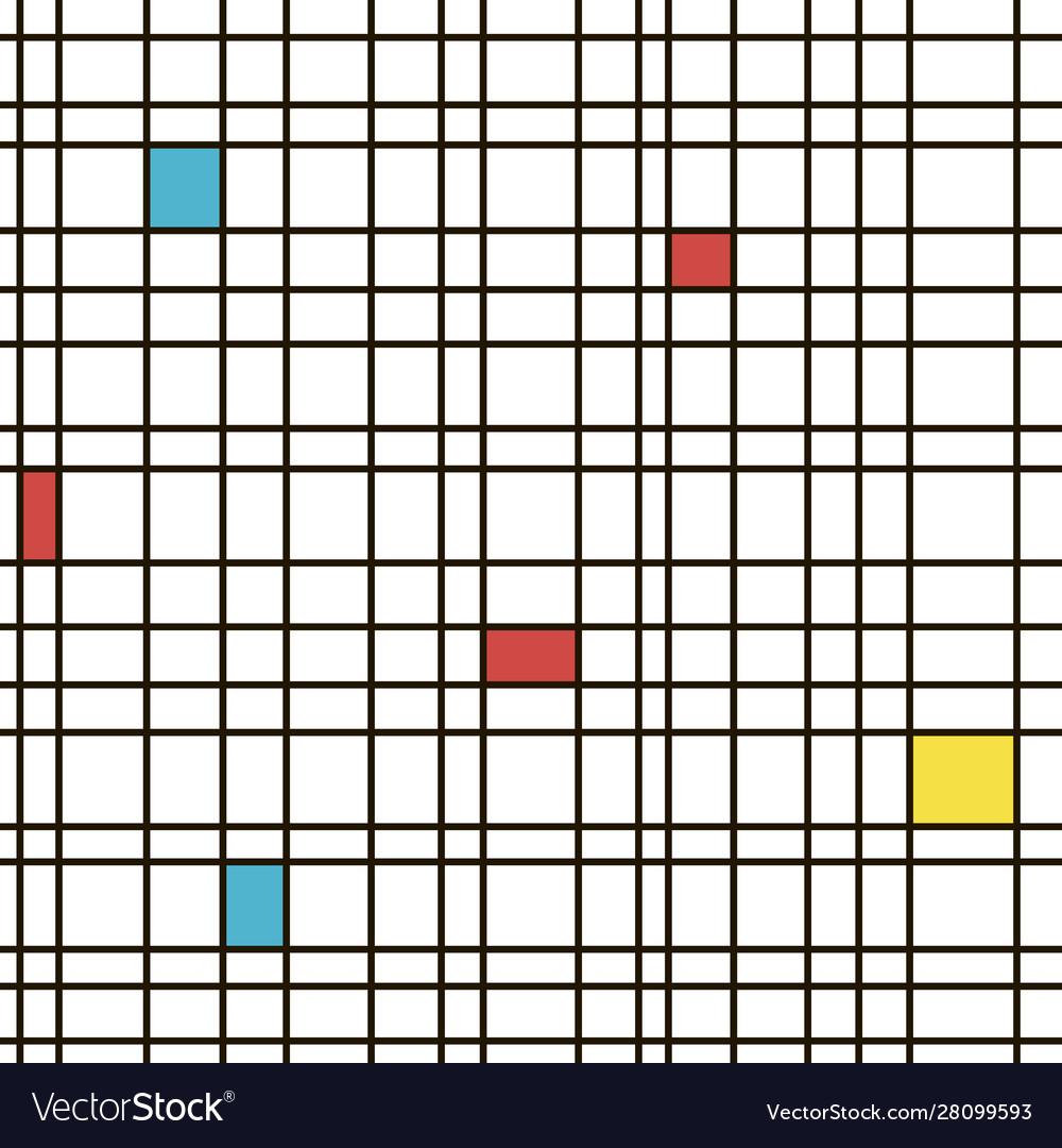 Parallel horizontal and vertical crossed black