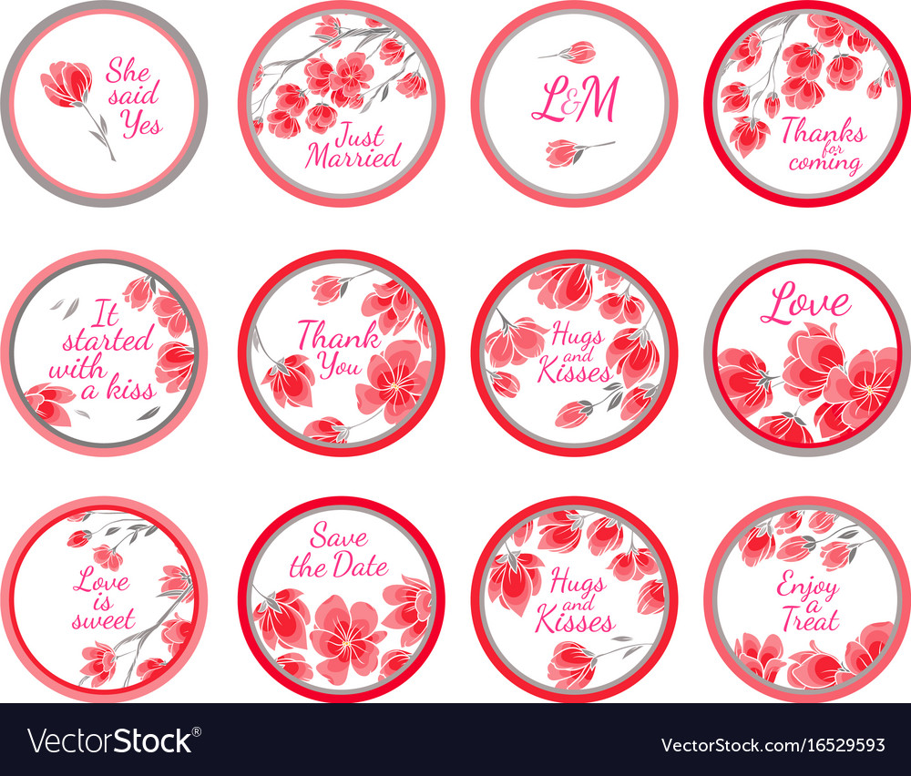Personalized candy sticker labels Royalty Free Vector Image