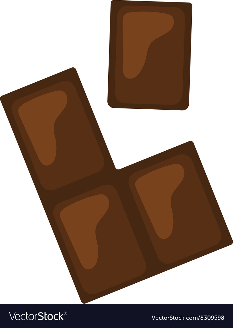 Chocolate pieces bars stack isolated on white