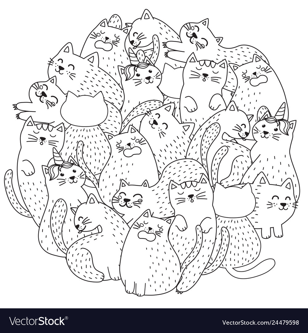 630 Top Coloring Pages Of Cute Cats Download Free Images