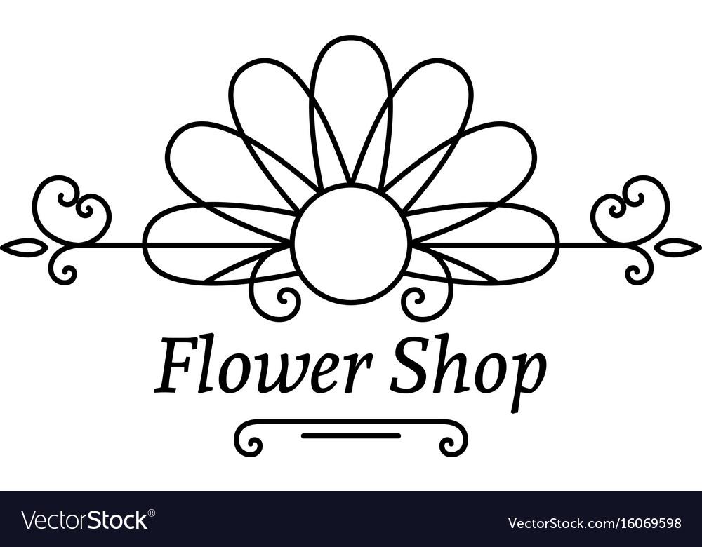Flower shop emblem