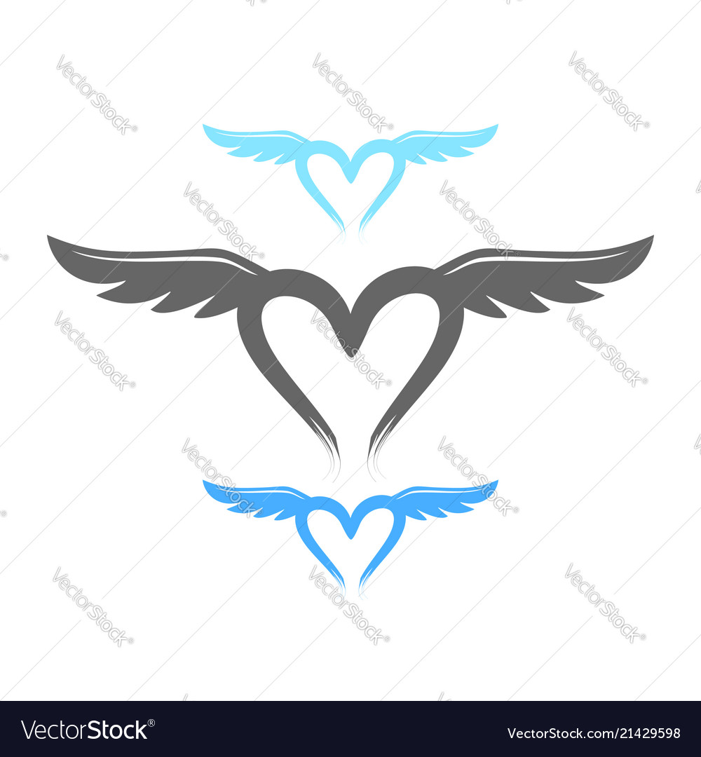 Love Life Wings Symbol Design Royalty Free Vector Image