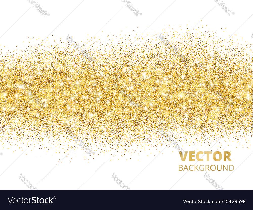 Sparkling glitter border isolated on white