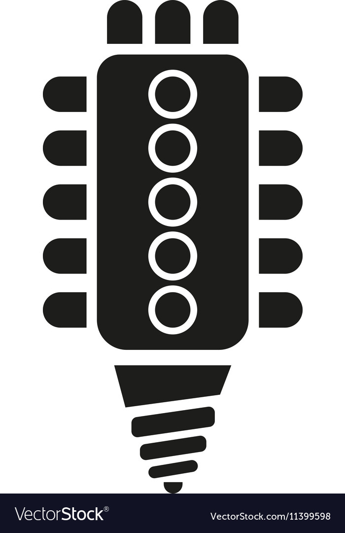 The led lamp icon Lamp and bulb lightbulb CFL