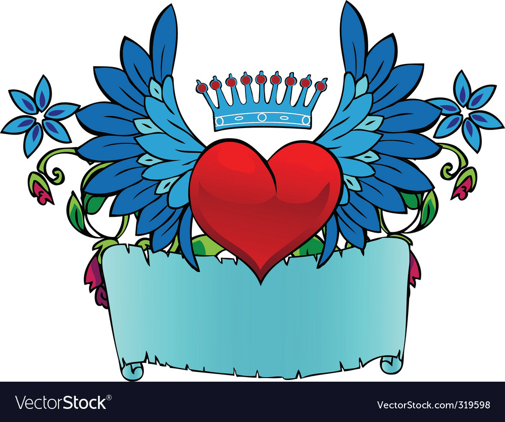 Valentine tattoo vector image
