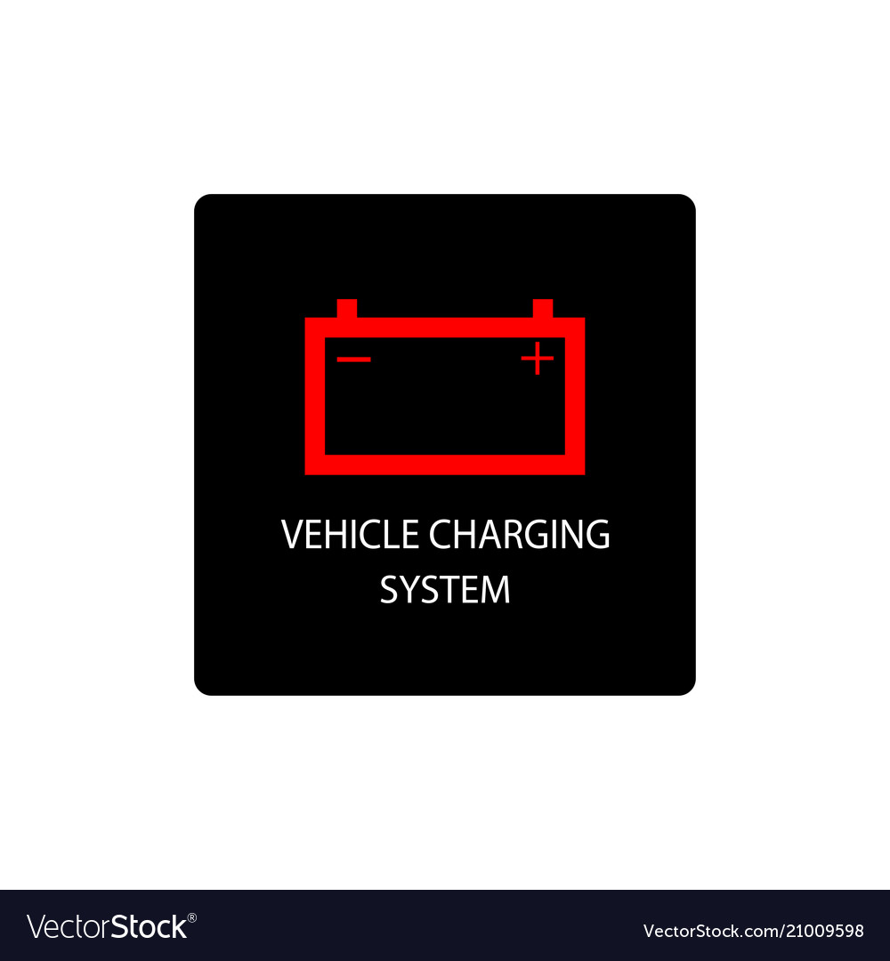 Warning dashboard car icon vehicle charging system