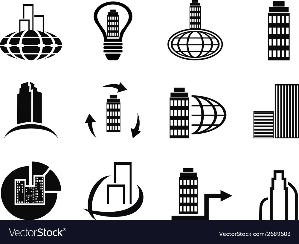 Abstract company icons set