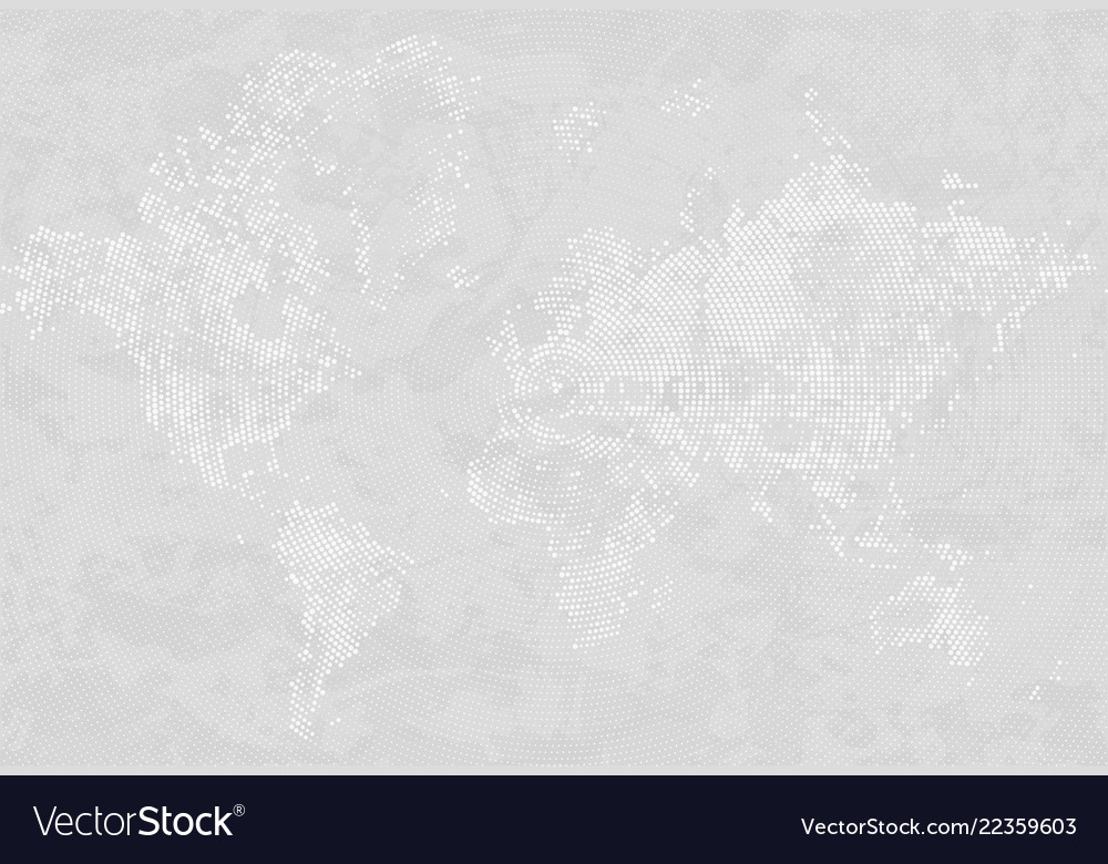 Abstract dotted map gray and white halftone grunge