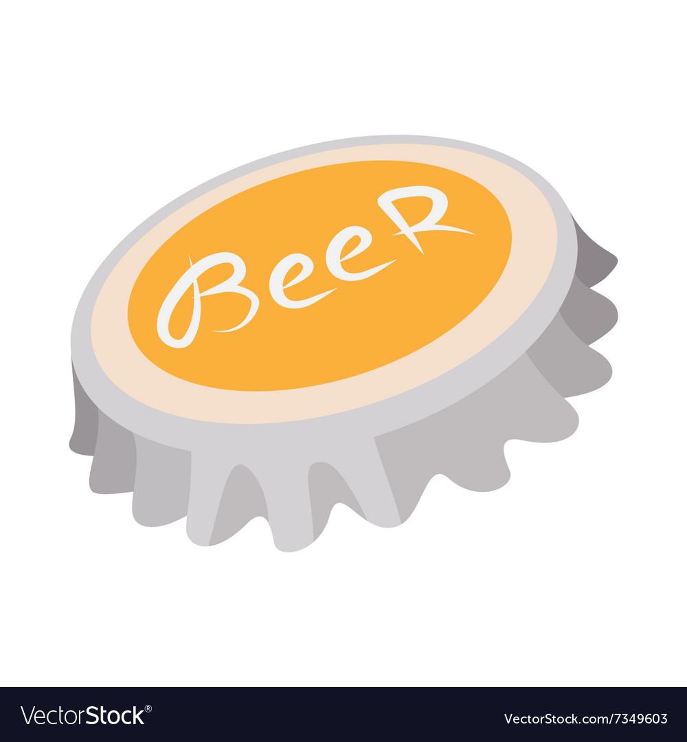 Beer Bottle Cap Cartoon Icon Royalty Free Vector Image
