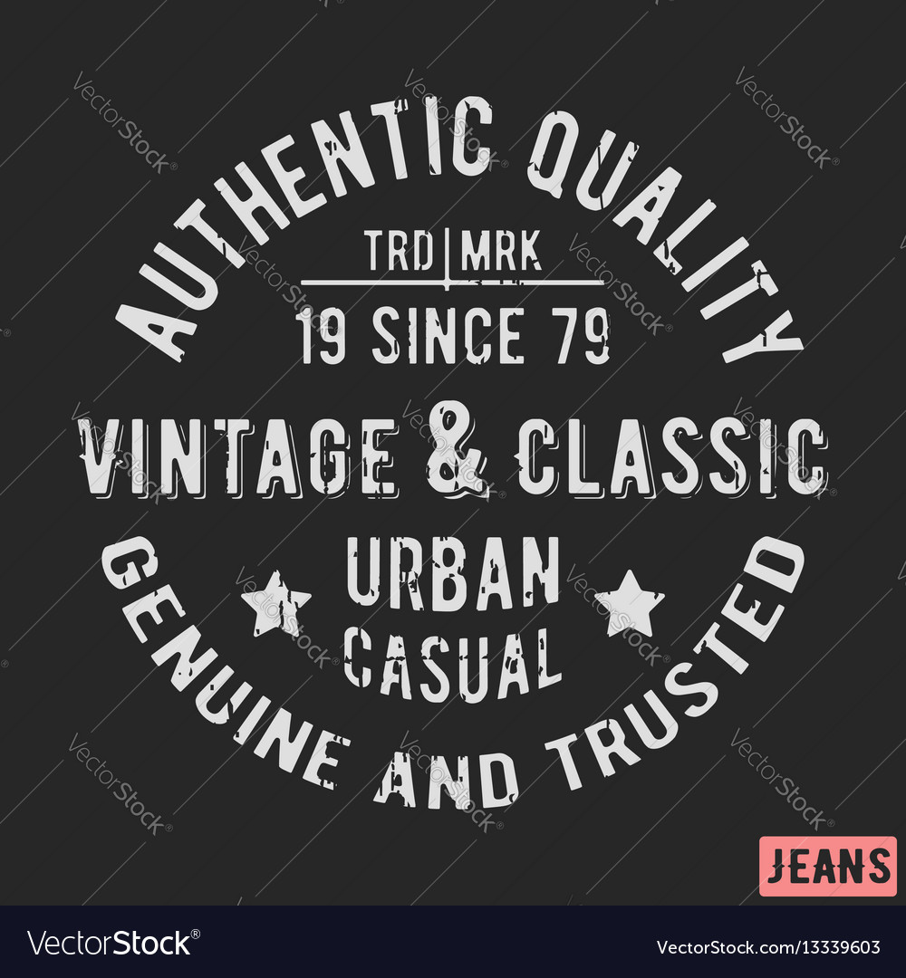 Classic vintage stamp vector image