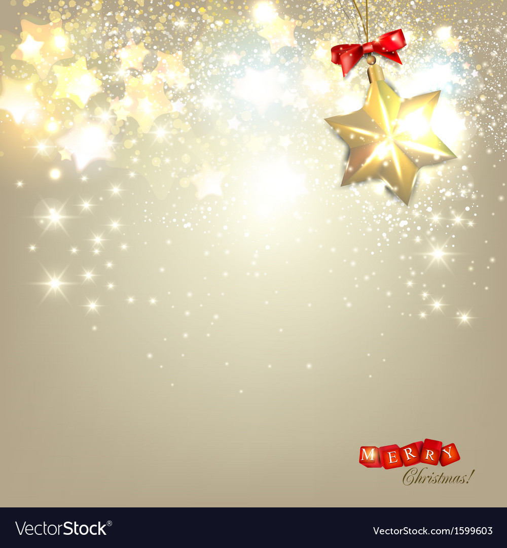 Elegant Christmas background with golden stars and