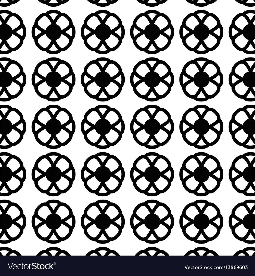 Flower decoration background design vector image