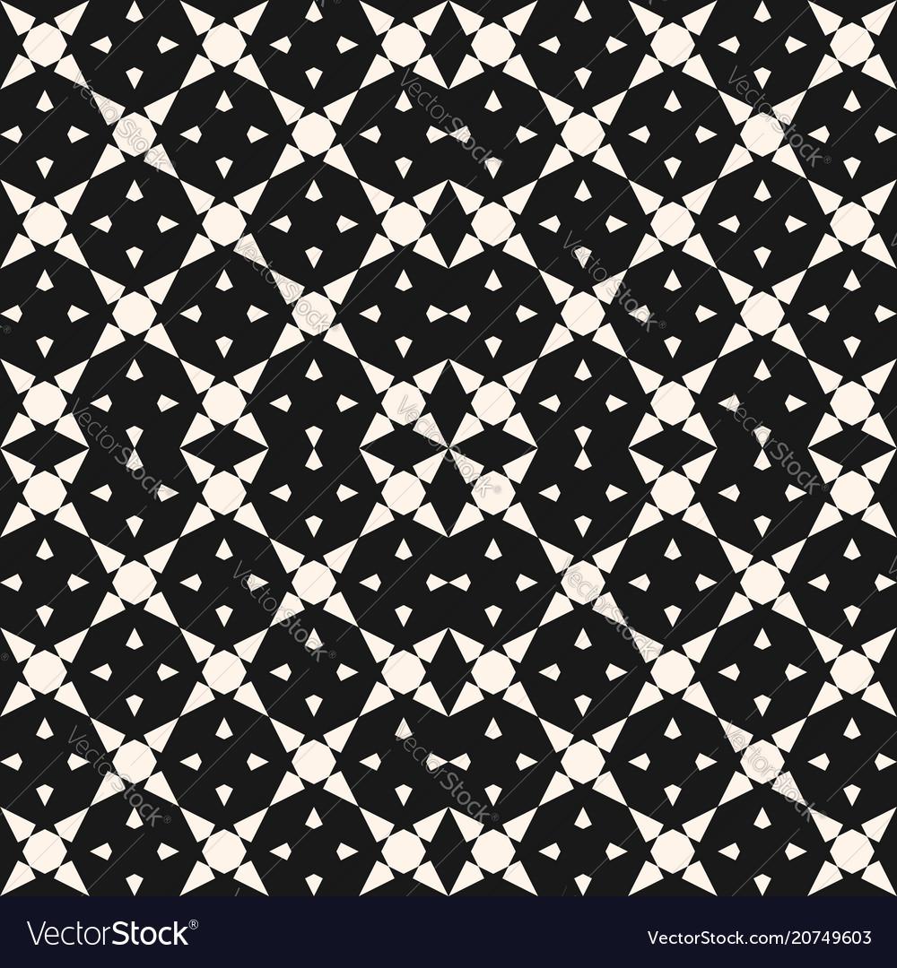 Geometric mosaic seamless pattern with star shapes