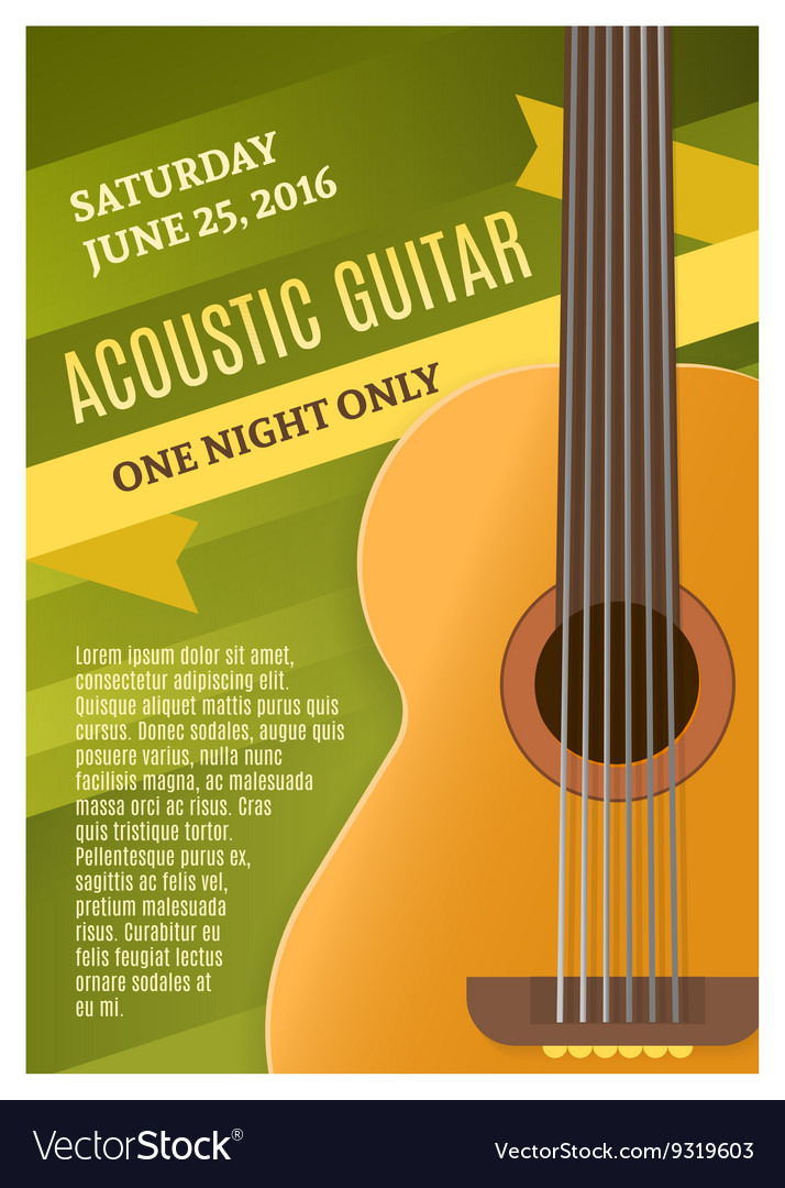 Guitar Music Poster vector image