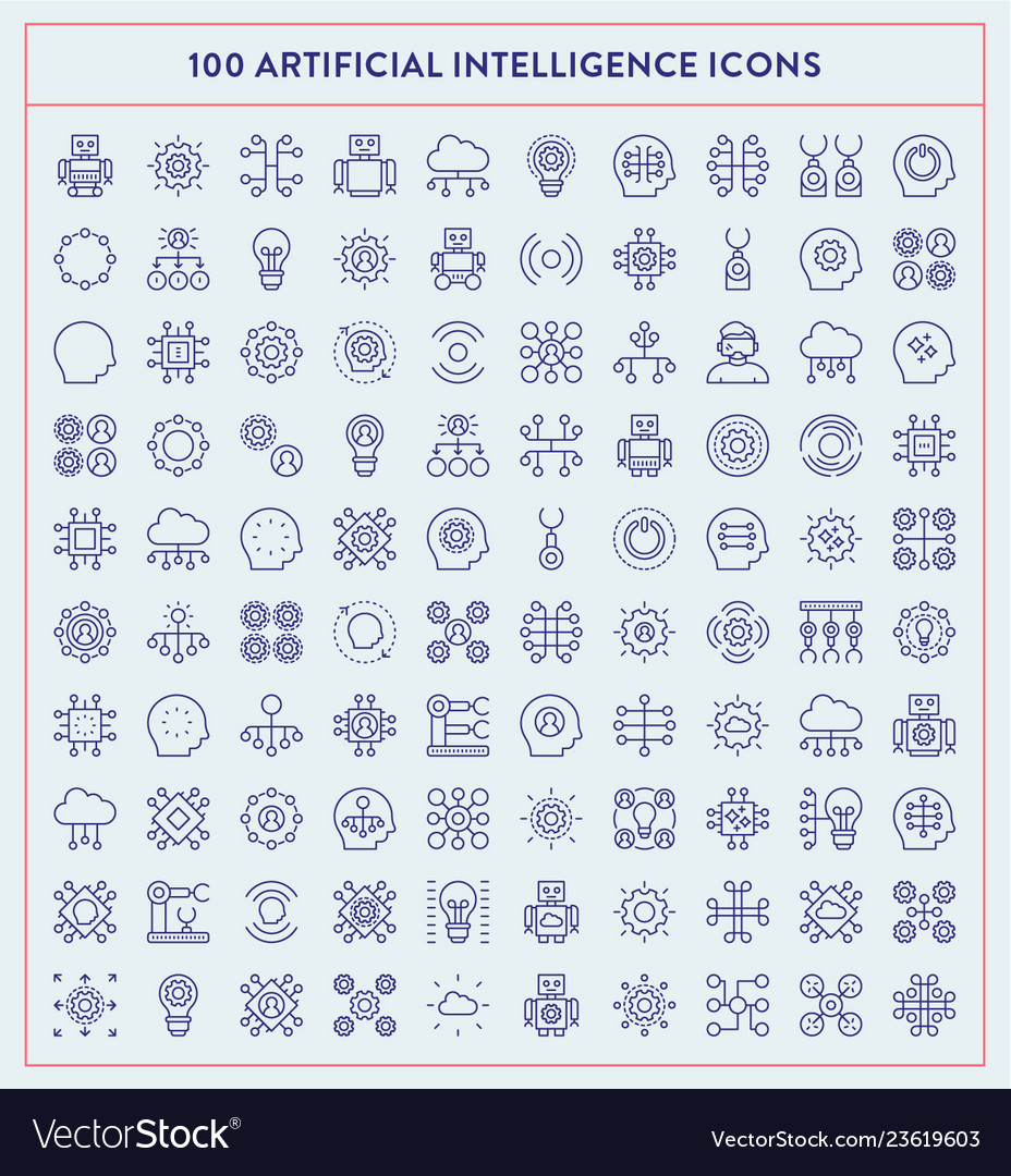 Made by made artificial intelligence icons