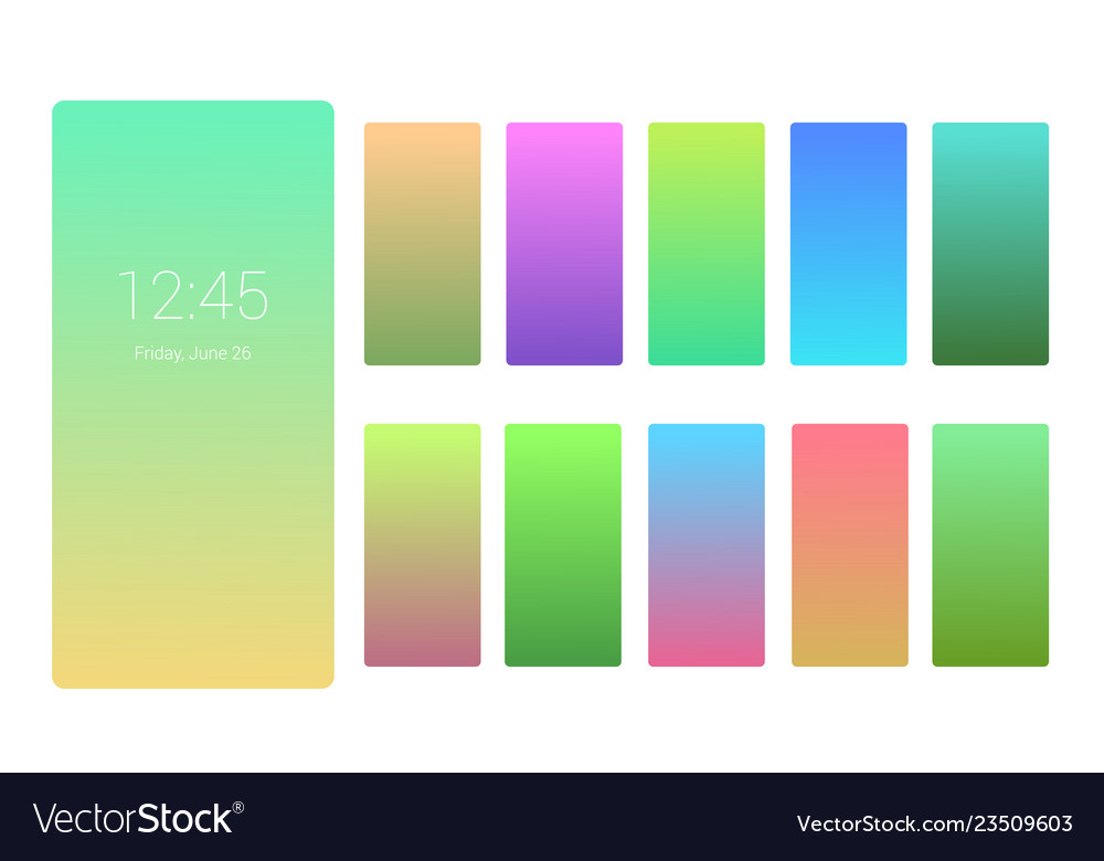 Soft color background design on screen gradient