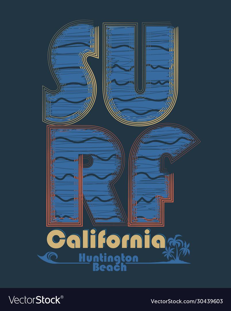 Surfing t-shirt graphic design surf lettering
