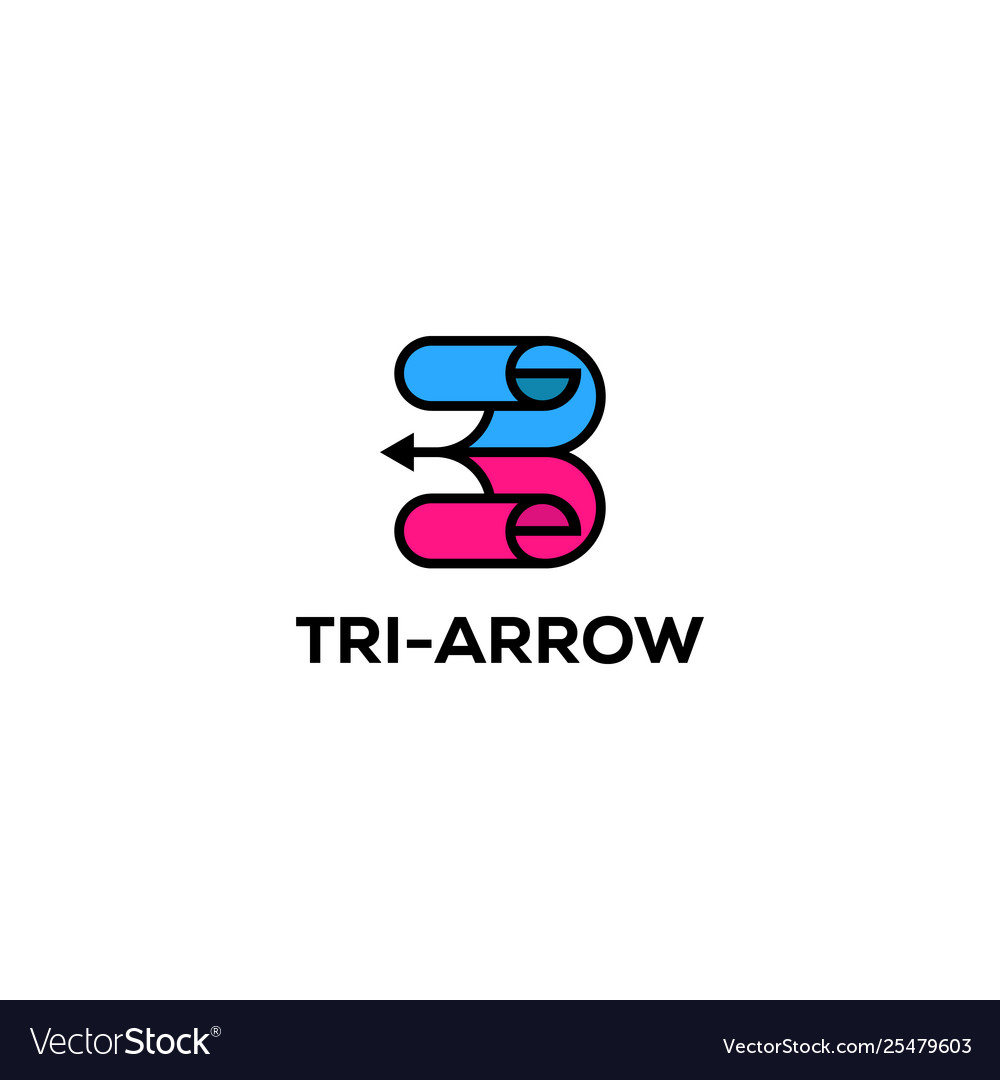 Three arrow logo designs creative inspirations