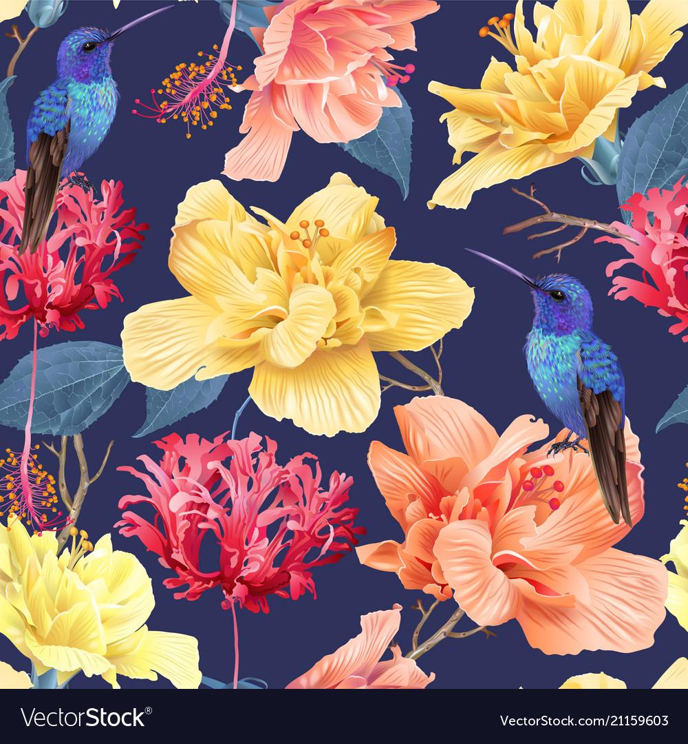 Tropic floral pattern