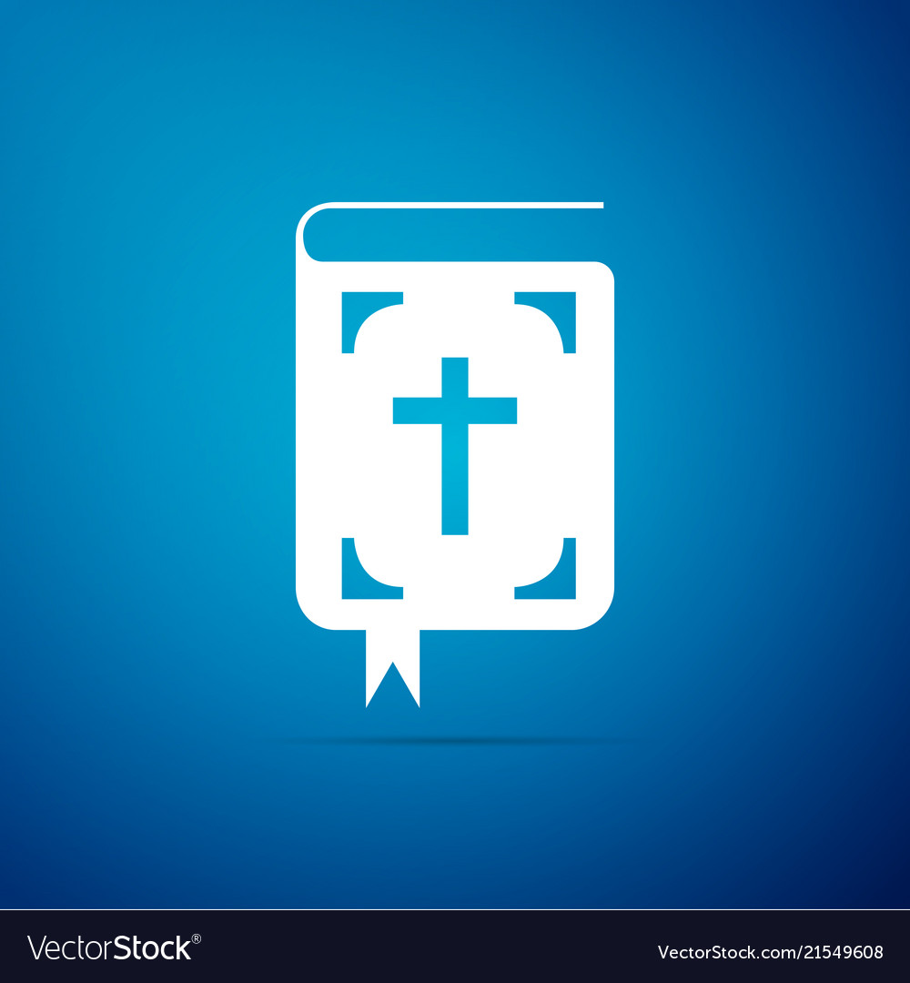 Bible book icon isolated holy bible book sign
