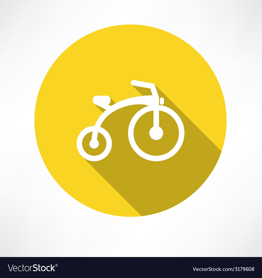 Child bike flat vector image
