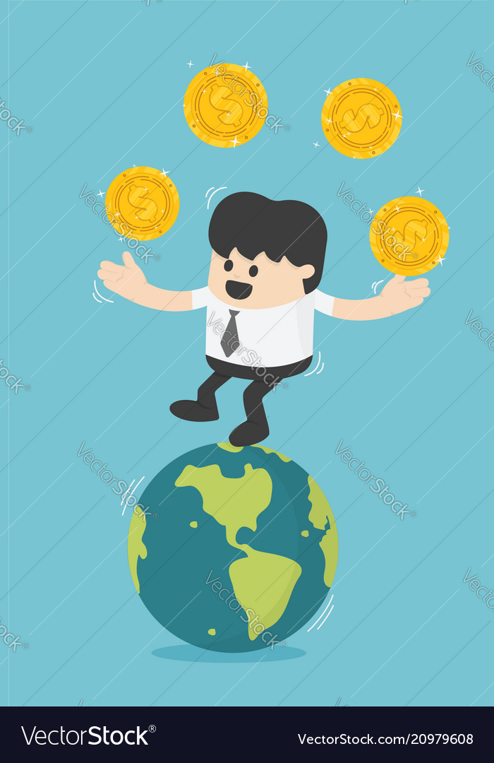 Concept business transfer of coins successful