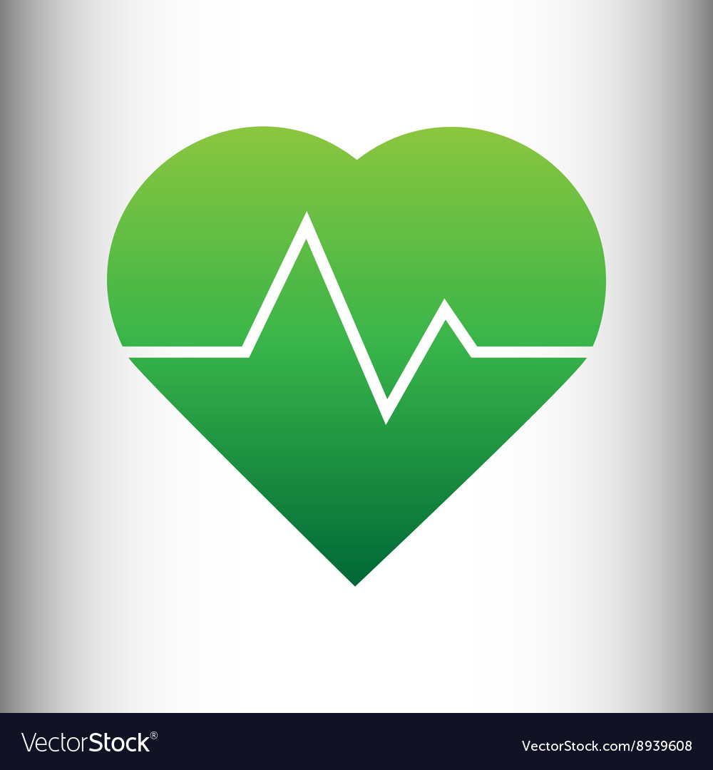 Heartbeat sign Green gradient icon