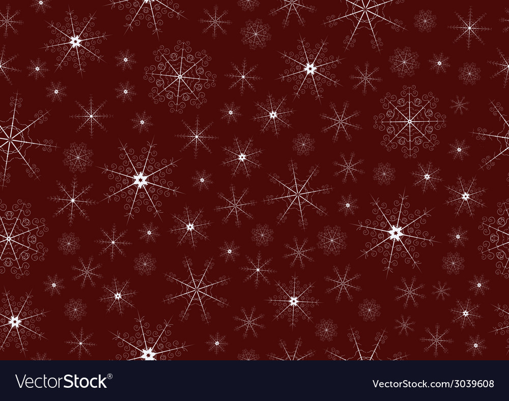 Seamless background with snowflakes vector image