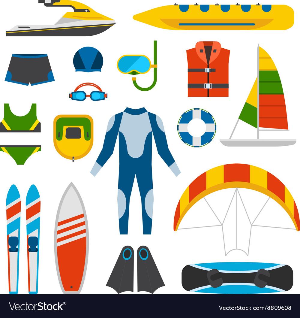 Summer fun entertainment vector image