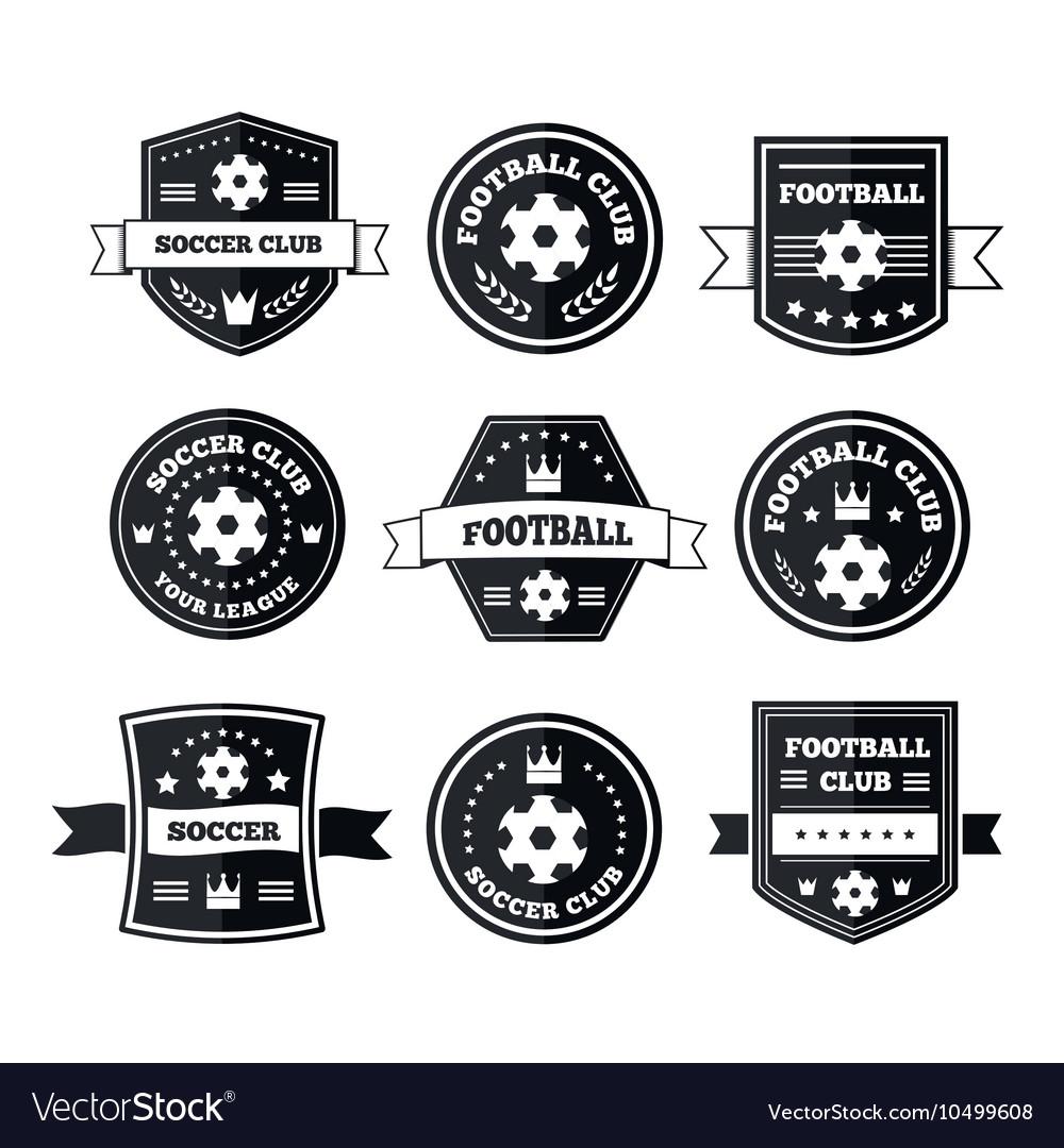 Team play in footbal vector image