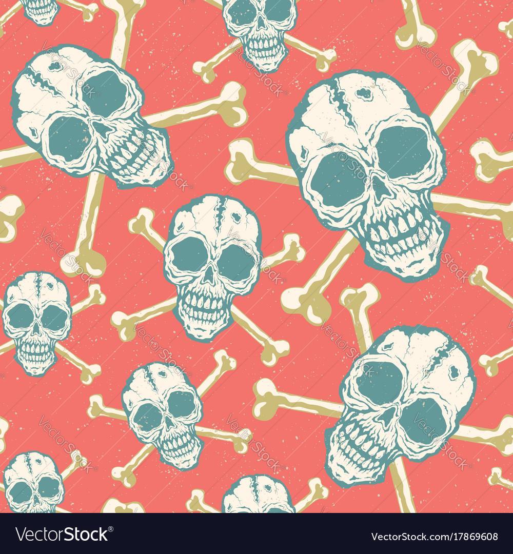 Vintage pattern with skulls