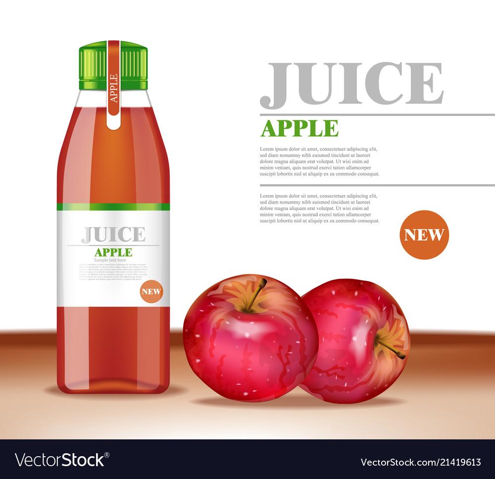 Apple juice bottle product