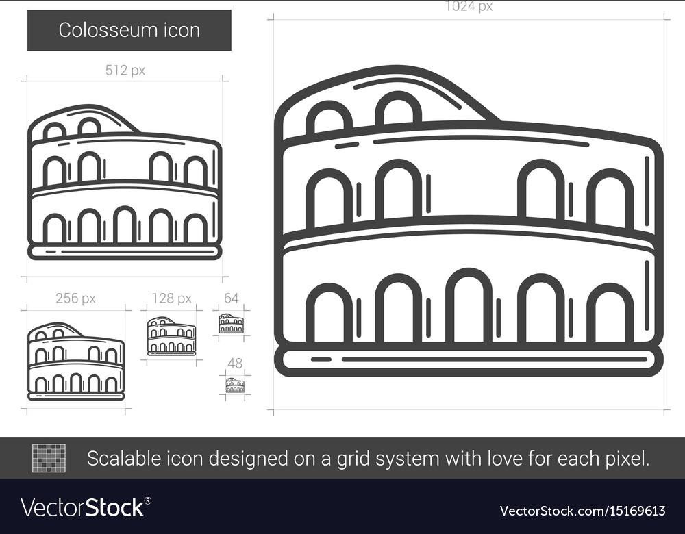 Colosseum line icon